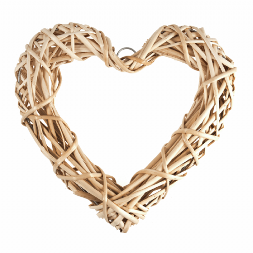 Wreath Base Light Willow Heart 30cm 11.8in